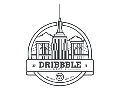 Dribbble Meetup Ny Dribbble Meetup Logo Branding