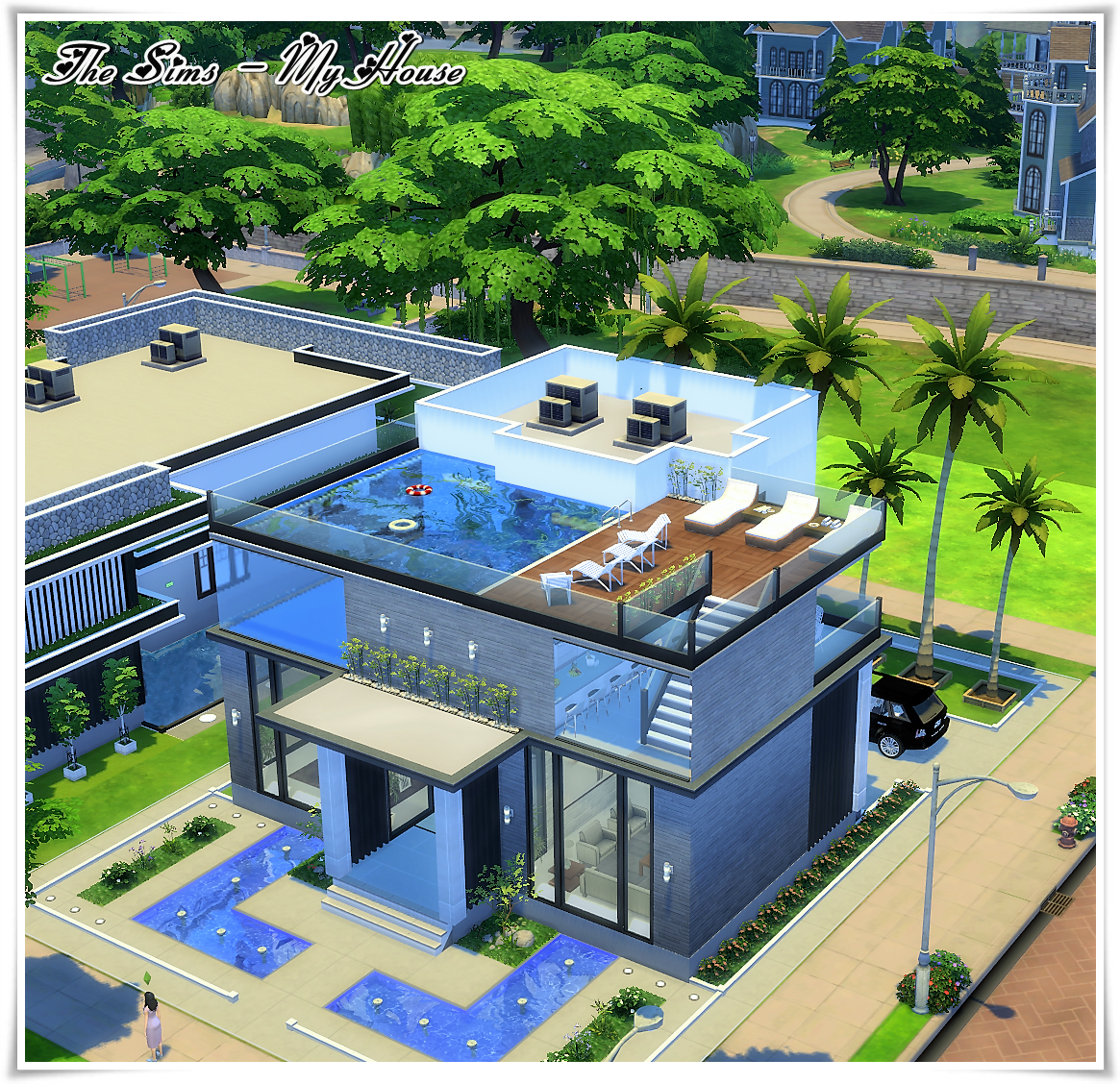 The sims my house buena vista casas the sims 4 for Casa moderna sims 3 sin expansiones