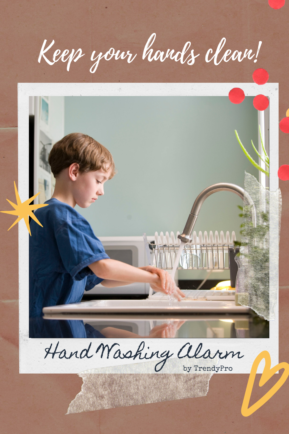 Keep Your Hands Clean with Hand Washing Alarm by TrendyPro