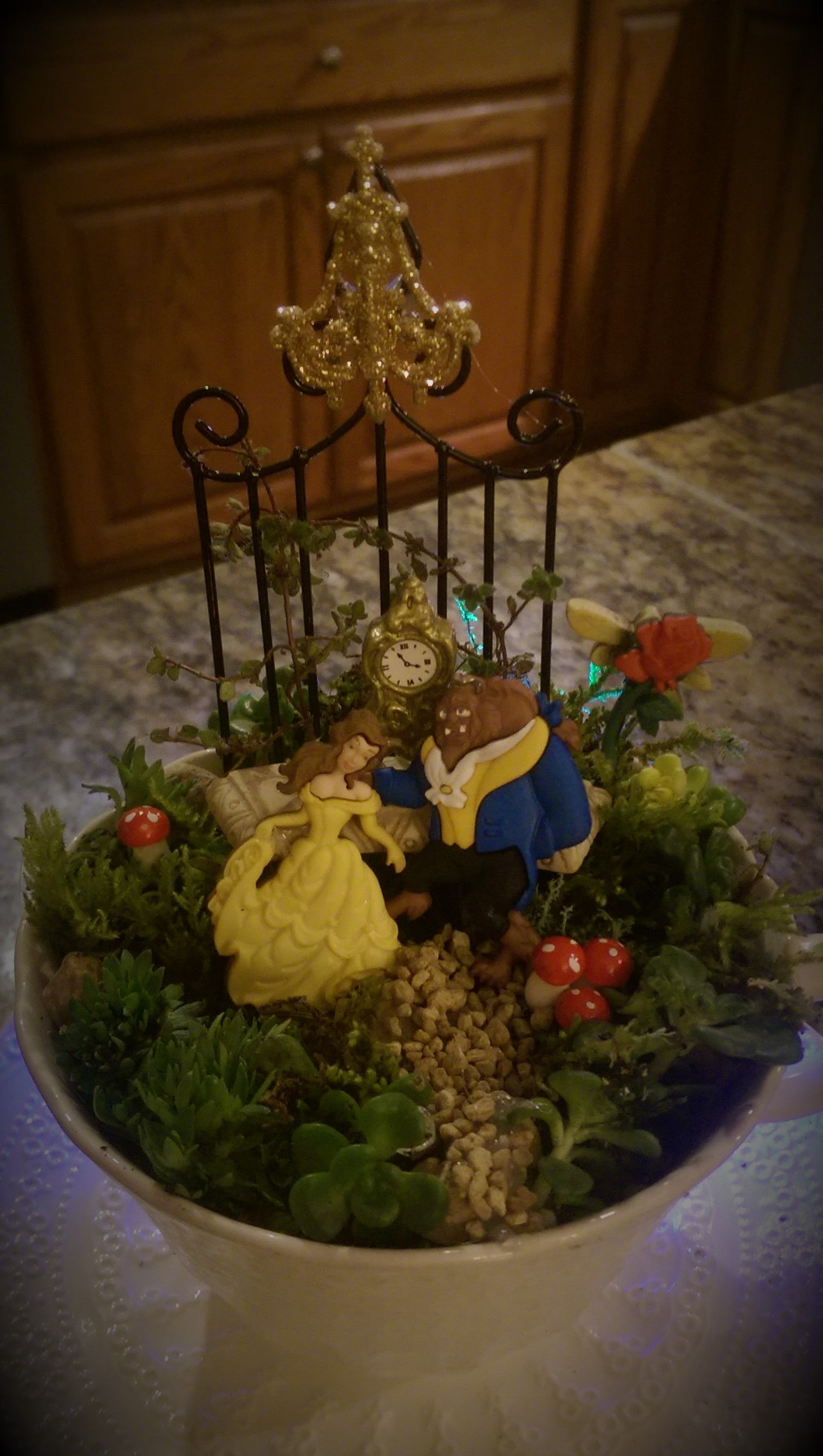 Beauty And The Beast Mini Teacup Garden.