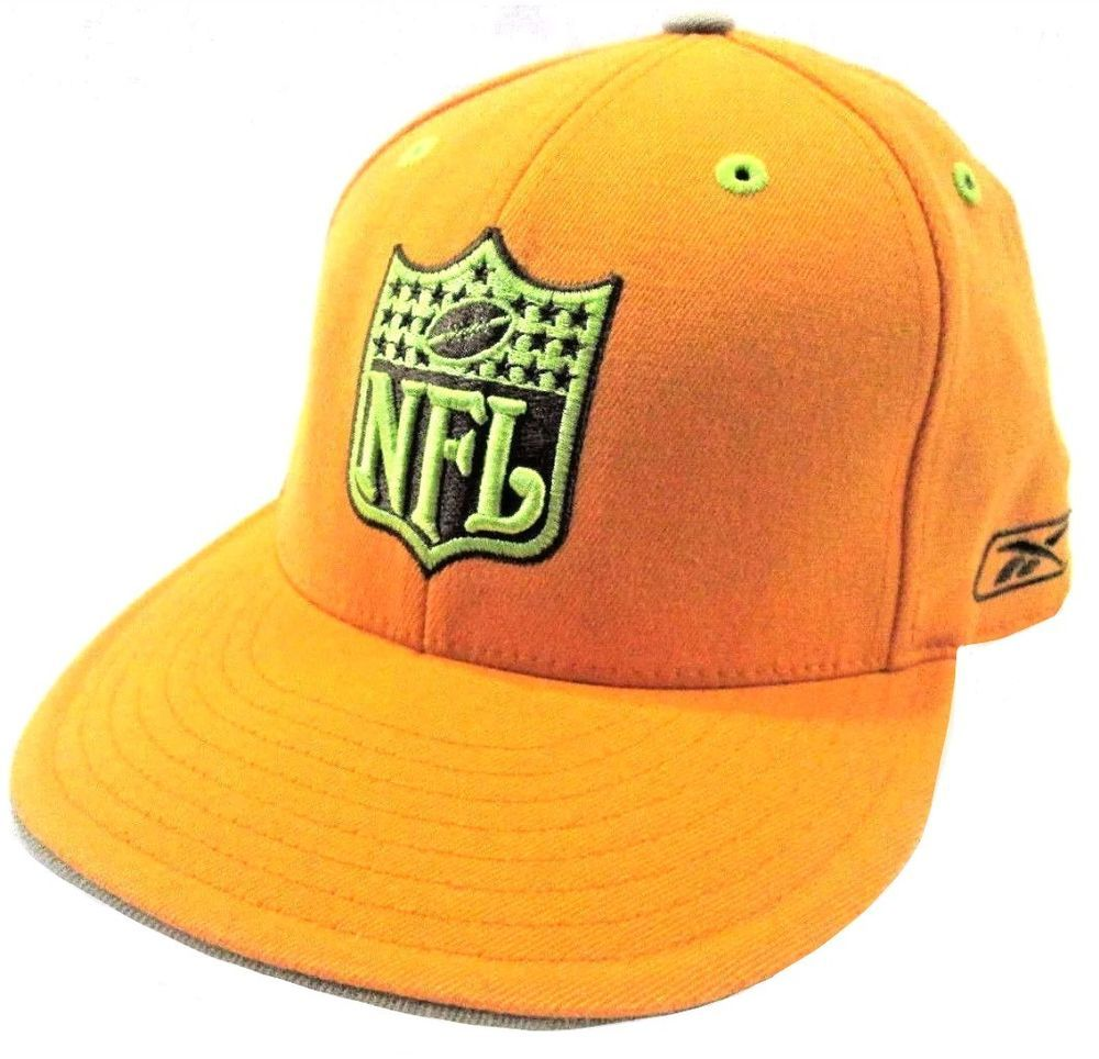 Yellow  NFL  HAT  Fit  Feet  Ball  Balls  Football  CAP Size  7 5 8 -   REEBOK  KOLORS  REEBOKKOLORS  eBay 8f9ca2f51dd