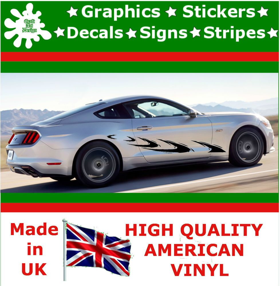 10 High Car Side Stripes Graphic Decal Vinyl Sticker Van Auto Rally Race F2 18 Racing Stripes Rally Racing Car Stickers [ 1000 x 978 Pixel ]