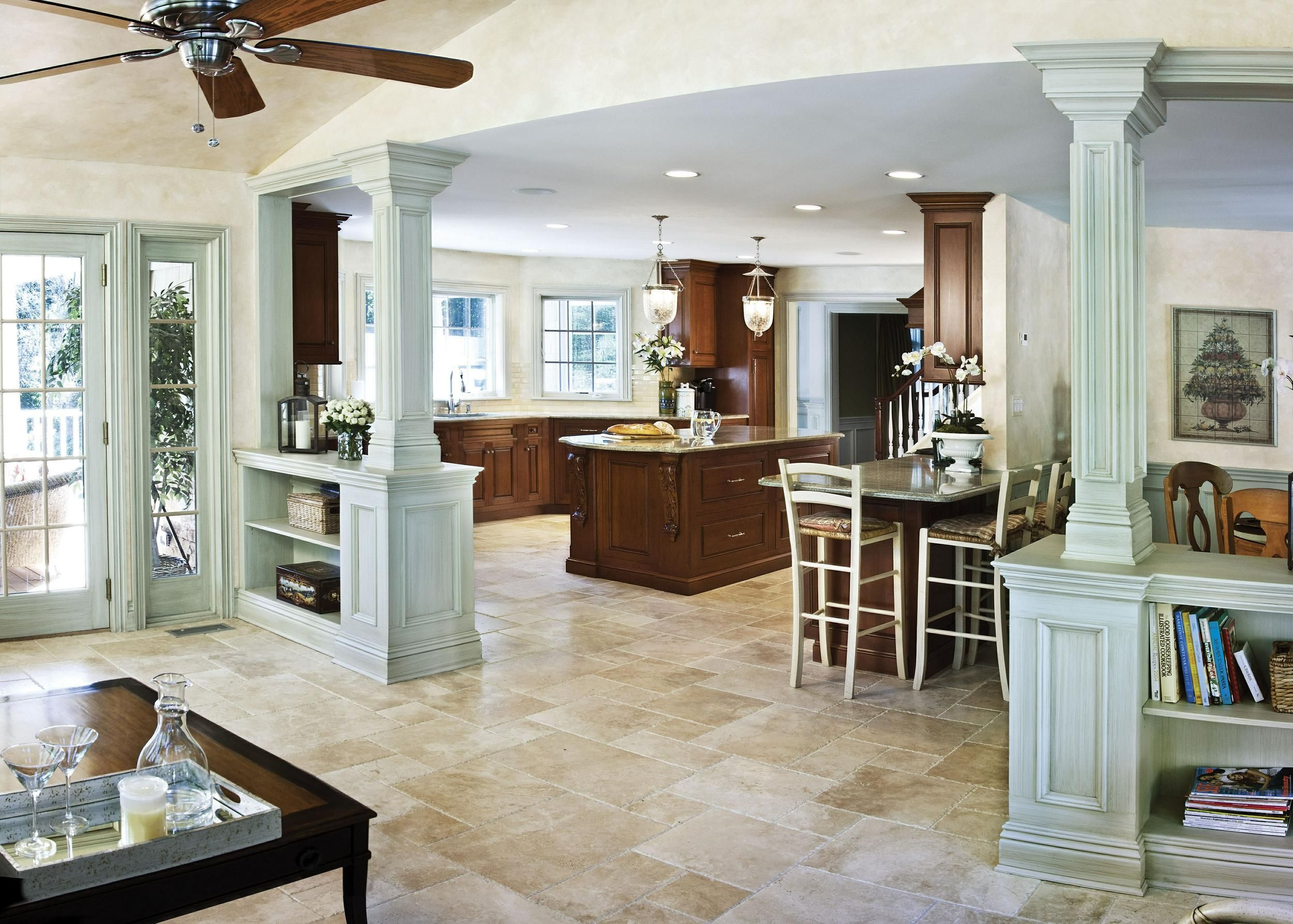Pin By Michelle Langworthy On Basement Remodel In 2020 Open Concept Kitchen Living Room Knock Down Wall Half Wall Room Divider
