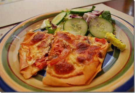 Caramelised Onion, Tomato and Mozzarella Filo Tart ...