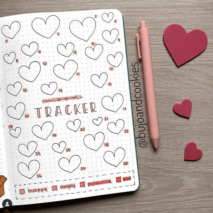 25+ Best February Bullet Journal Mood Tracker #fitness inspiration desenho 25+ Best February Bullet...