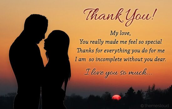 Express Your Heartfelt Gratitude And Tell Your Partner How