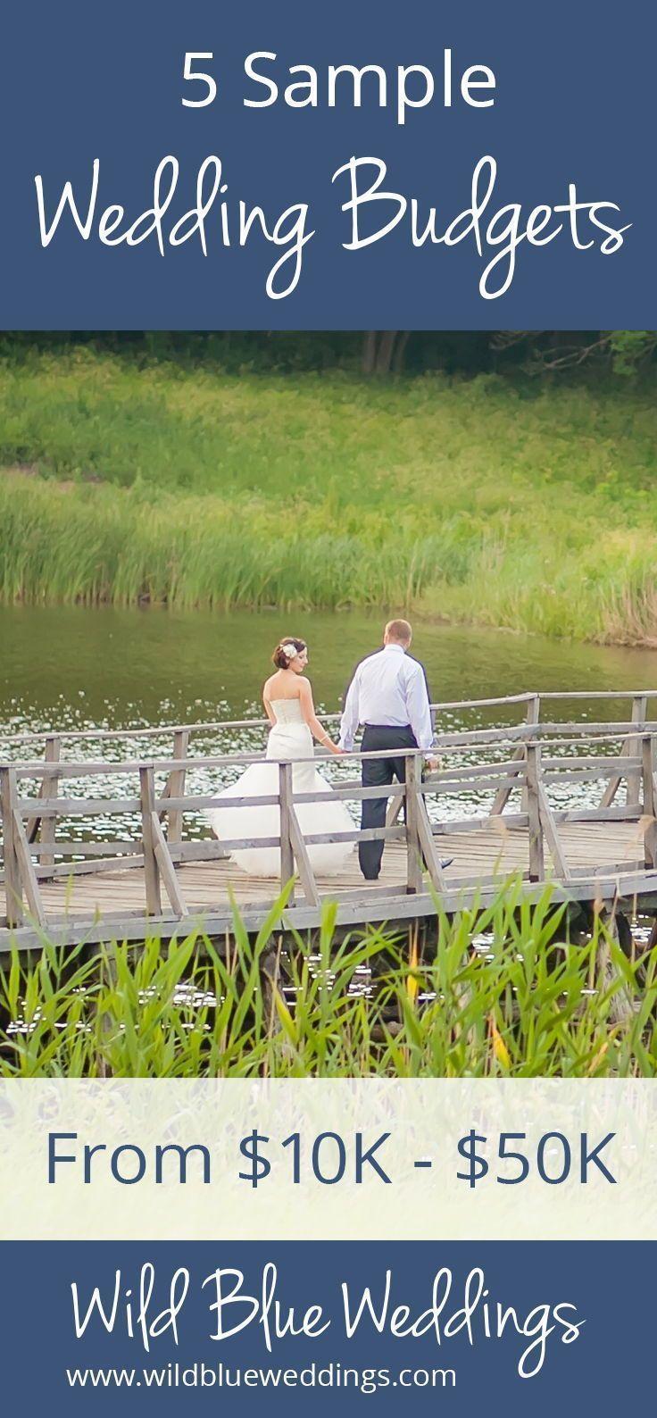5 Sample Wedding Budgets From 10K 50K Budget wedding