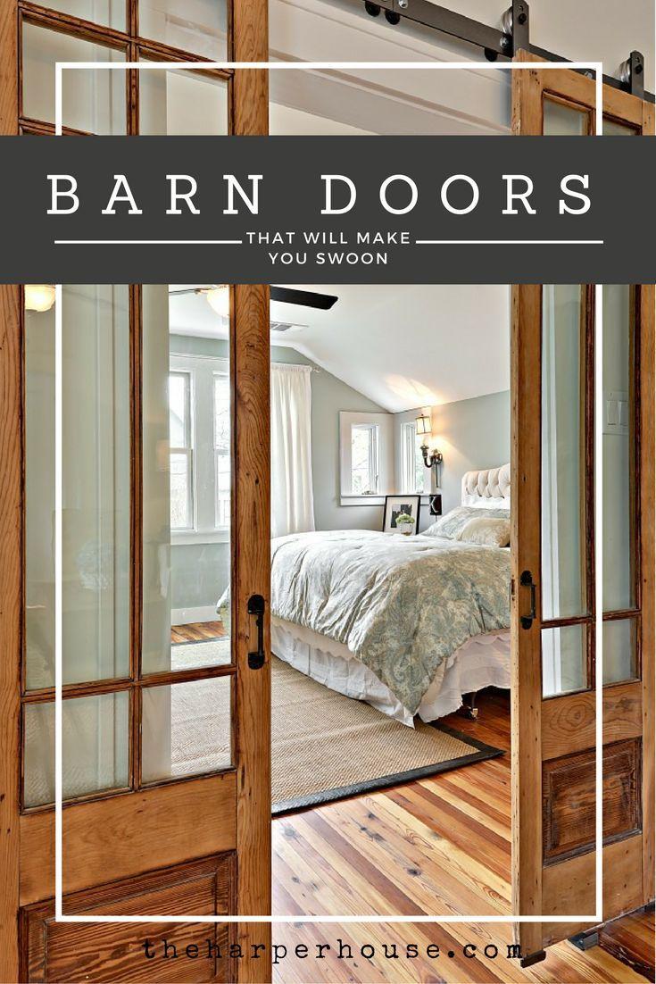 10 awesome sliding barn doors farmhouse home decor ideas - Barn door interior sliding doors ...