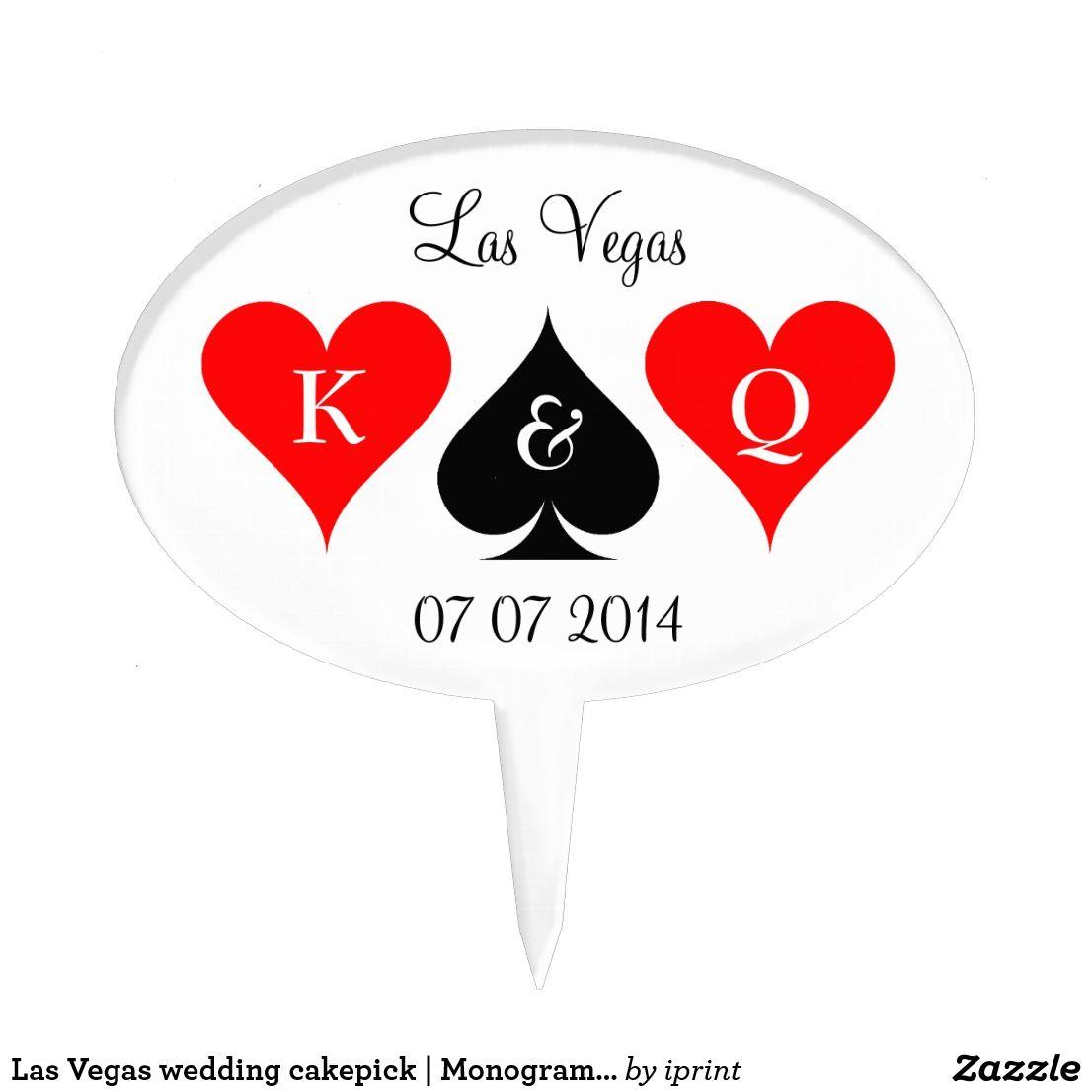 Las Vegas wedding cakepick | Monogram cake topper | Monogram cake ...