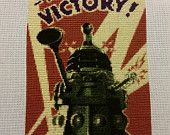 Doctor Who Dalek To Victory Completed Cross Stitch