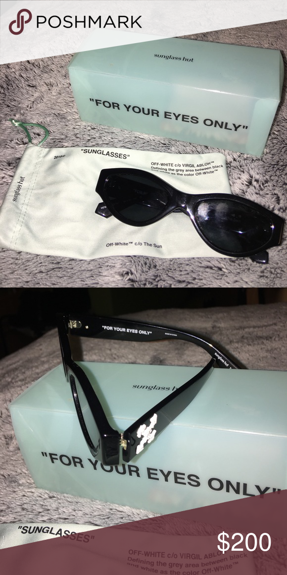 0ea33bfe05777 Off White x sunglass hut Virgil Abloh Off White Sunglasses (Like New) Off-White  Accessories Sunglasses