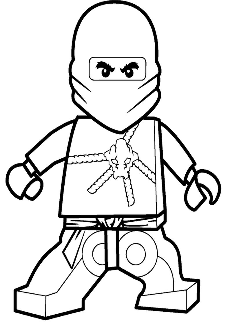 Kolorowanka Lego Ninjago Cole Malowanka Dla Chlopcow Nr 2