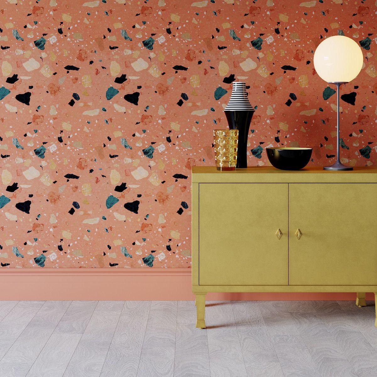 Peel and Stick Wallpaper Roll | Terracotta Sperduti