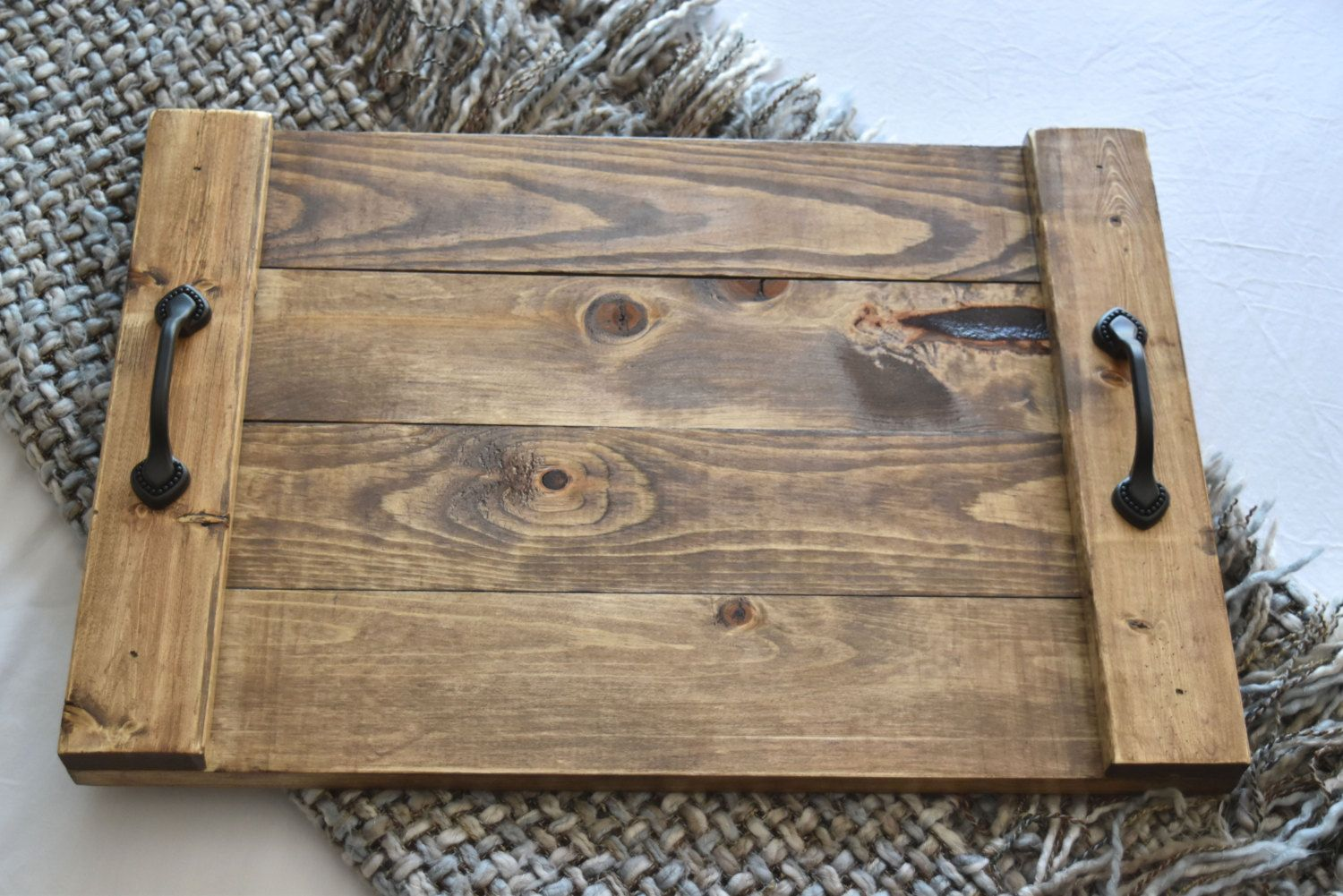 Rustic Wooden Ottoman Tray Decorative Tray Coffee Table Tray Farmhouse Decor Wooden Tray By N Coffee Table Decor Tray Tray Decor Coffee Table Farmhouse [ 1125 x 1500 Pixel ]
