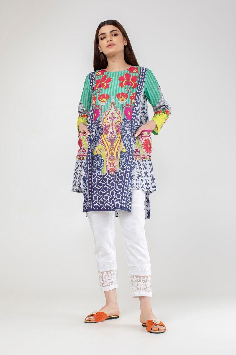 Khaadi Stylish Summer Kurtas Dresses Pret Spring Collection 2021 22 Stylish Dress Book Girls Dresses Sewing Pakistani Dresses Casual [ 1200 x 800 Pixel ]