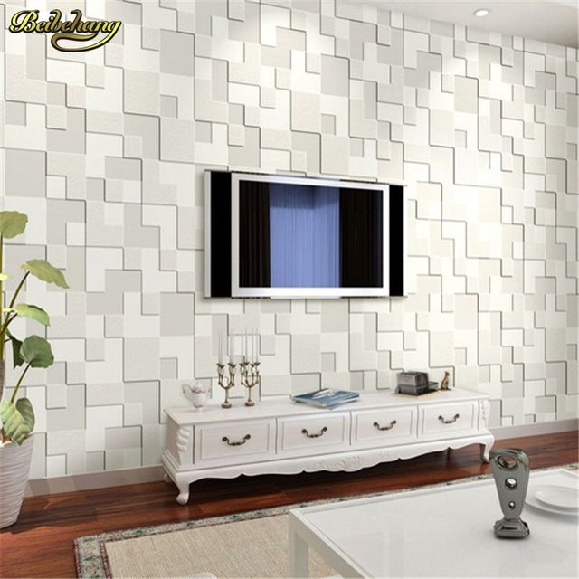 Beibehang geometria tridimensional mosaico papel de parede for Papel pared moderno