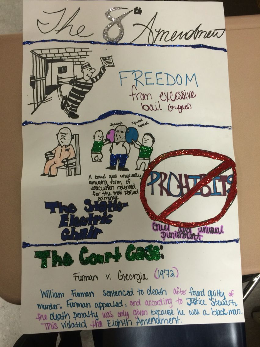 8th Amendment poster for school | Craft Ideas | The 8th