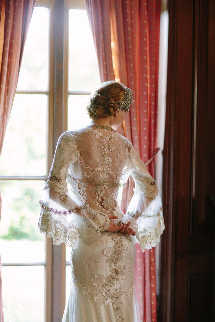 claire pettibone 39 viola 39 wedding gown fleur de jour. Black Bedroom Furniture Sets. Home Design Ideas