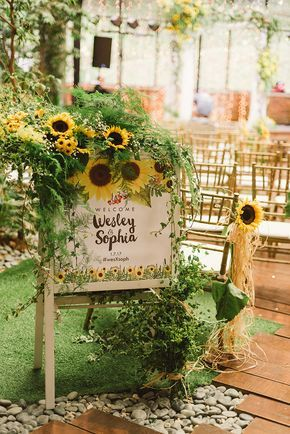 Wesley and Sophia's Sunflower-Filled Wedding at Glasshouse at Seputeh -   24 indoor garden wedding