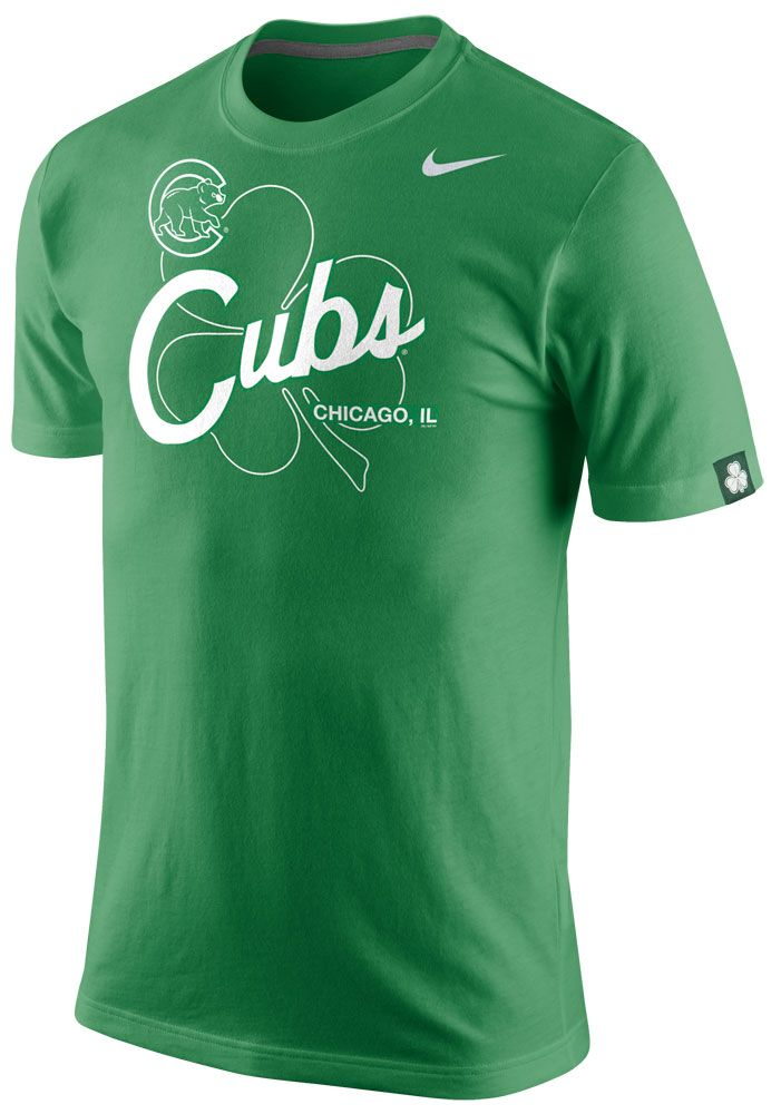 Chicago Cubs St. Patrick's Day Tri-Blend T-Shirt by Nike. Chicago White SoxBoston  ...