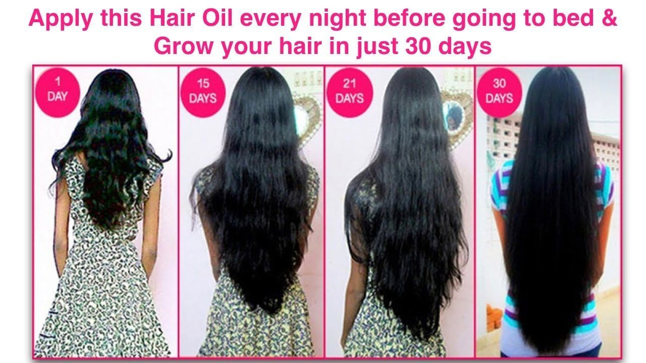 apply this oil on your hair before going to bed and grow your hair
