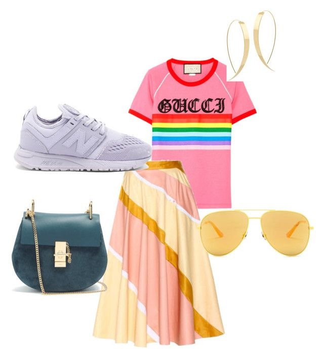 """Summer Chic"" by michella-malin-petersen ❤ liked on Polyvore featuring Gucci, Roksanda, Yves Saint Laurent, New Balance, Chloé and Lana"