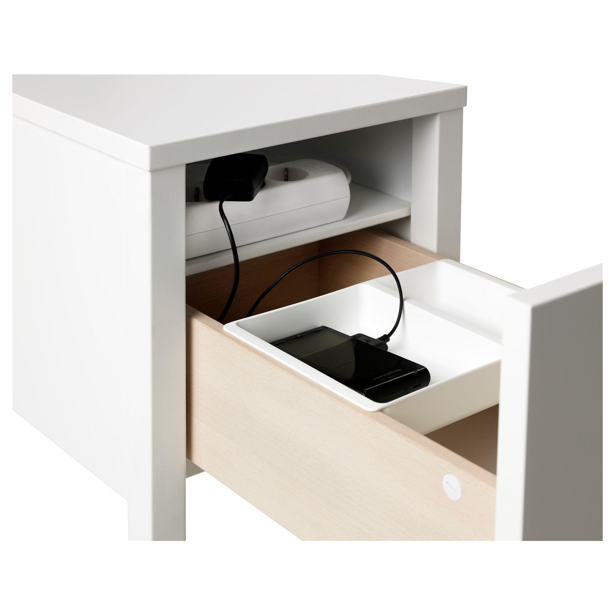 IKEA NORDLI Nightstand white Bedside table ikea, Ikea