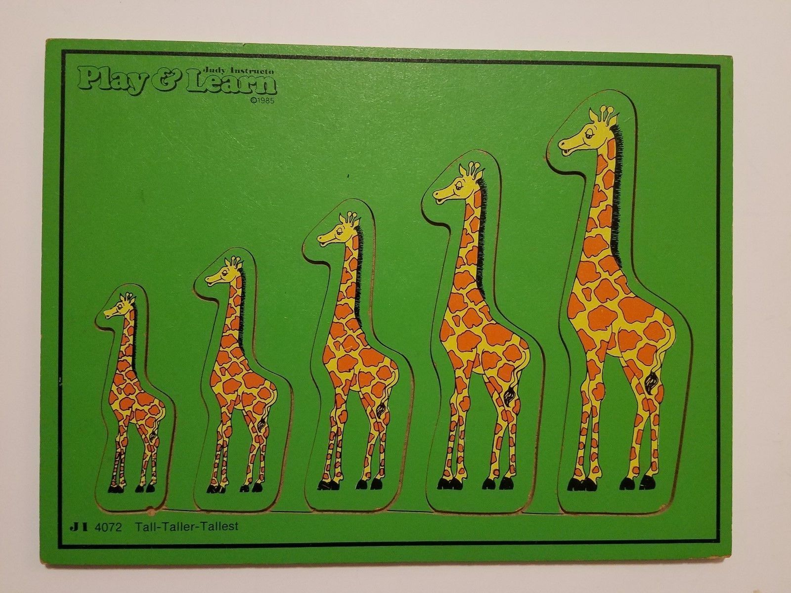 Judy Instructo Tall Taller Tallest Puzzle J1