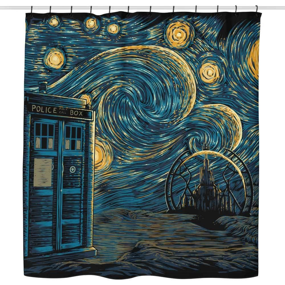 Starry Gallifrey Shower Curtain In 2020 Doctor Who Wallpaper