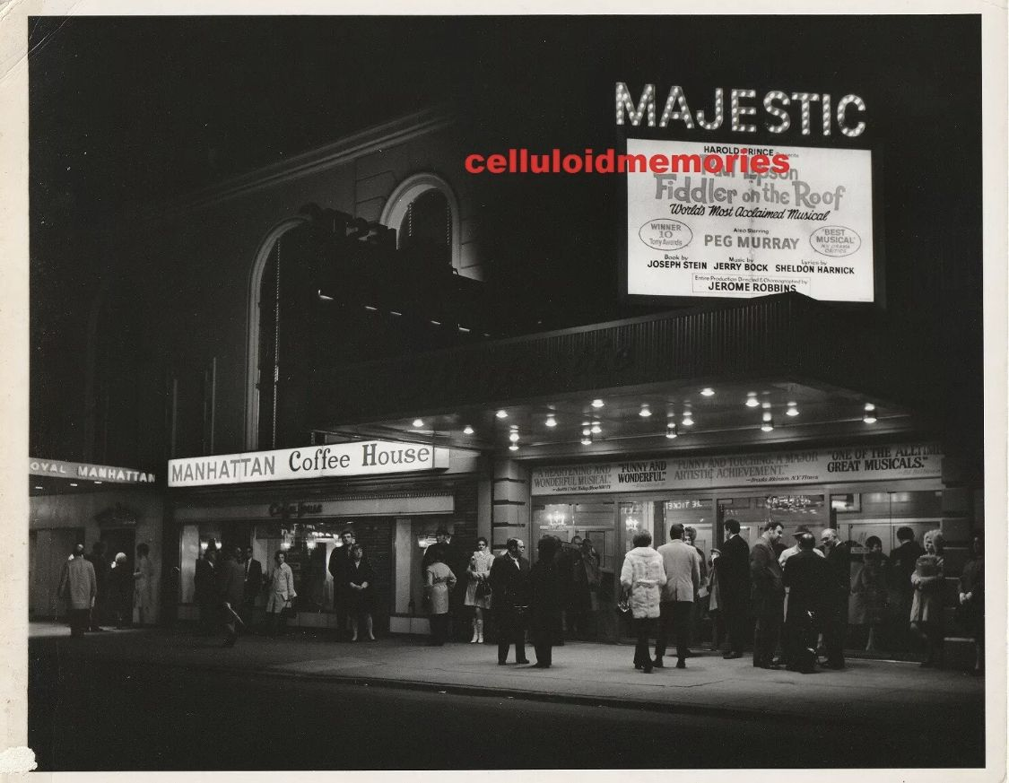 Broadway Marquee Majestic theatre, Broadway, Fiddler on