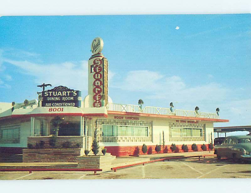 1950 S Old Cars Stuart Drive In Restaurant Houston Texas Tx P7108