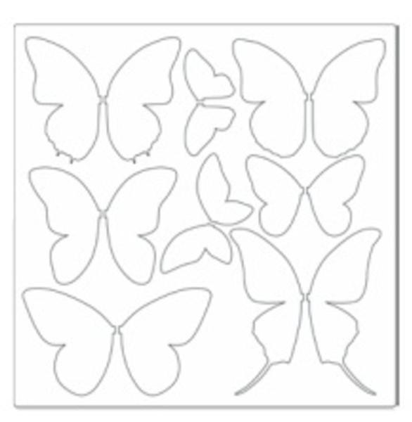 Plantilla mariposas plantillas pinterest mariposas - Plantillas de mariposas para pintar ...