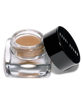 Bobbi Brown's new Long-Wear Cream Shadow (I like the Platinum shade, it's a sheer silver) really stays on. And the little shimmery bits don't end up all over your face.