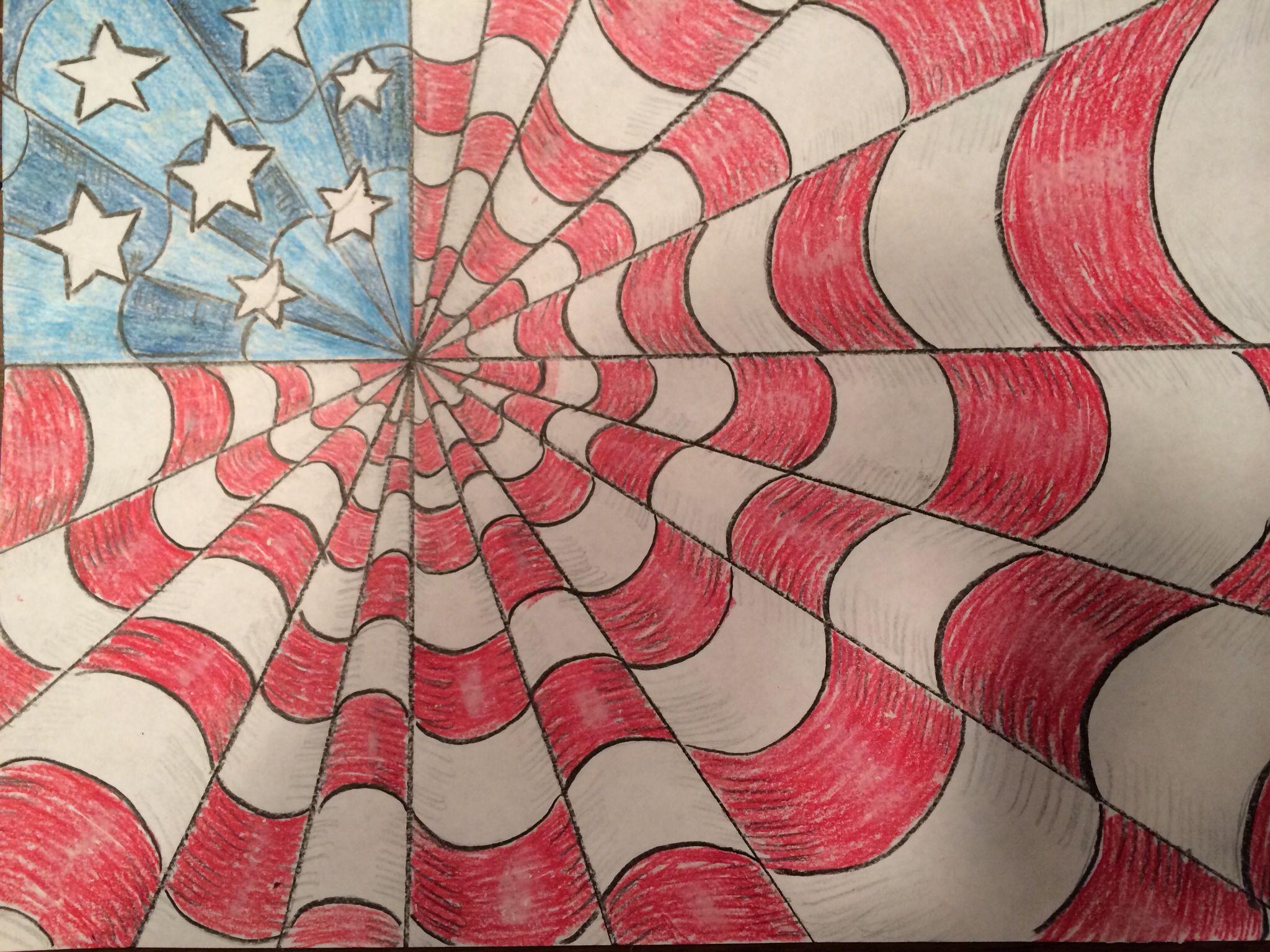 Happy 4th of July art project. #veteransdayartprojects