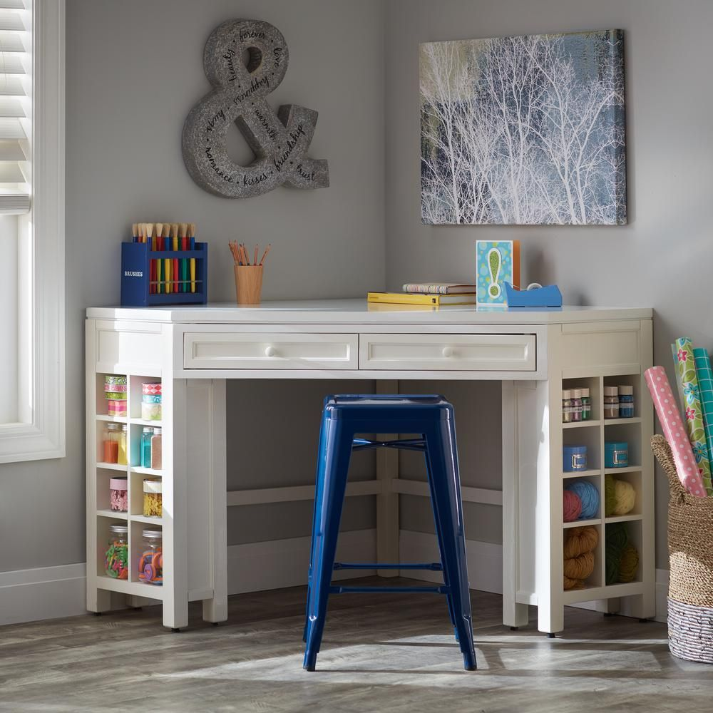 Love The Corner Table But I D Move The Sewing Machine Into The Corner Instead Craft Room Tables Diy Sewing Table Sewing Craft Table
