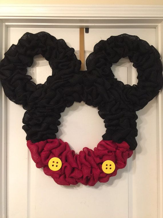 33x33 burlap Mickey Mouse wreath