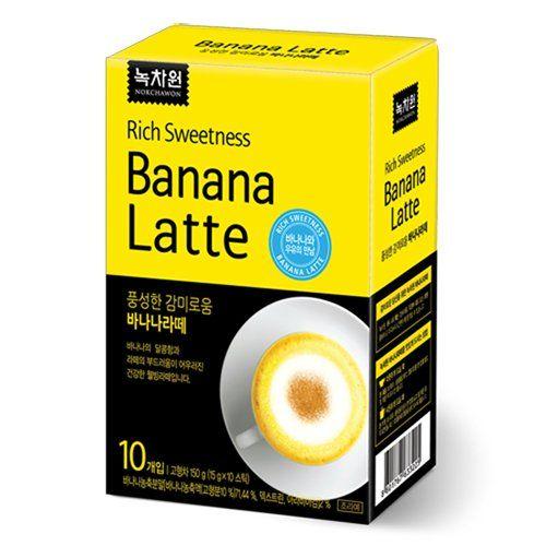 Nokchawon Rich Sweetness Banana Latte 150g 10 Sticks