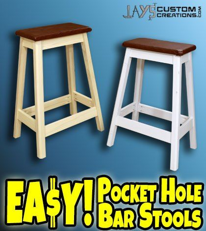 How To Build A Bookcase Diy Bar Stools Diy Stool Bar Stools