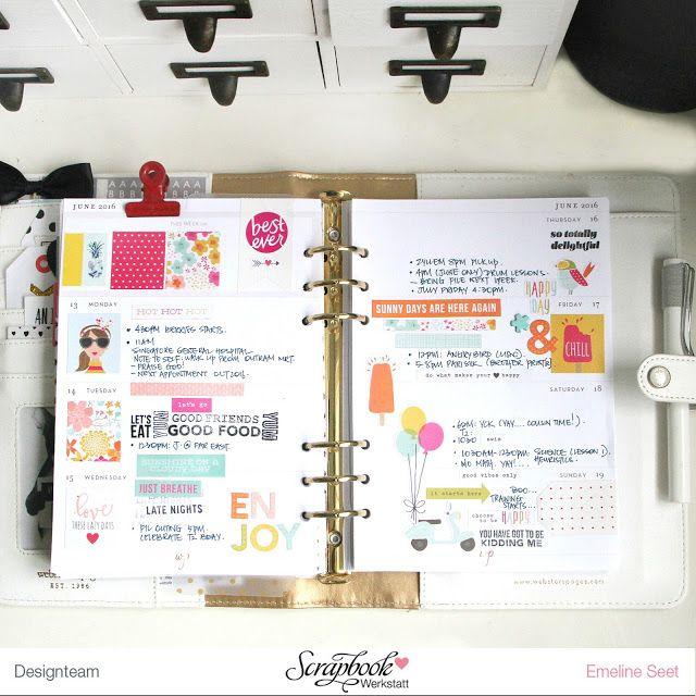 Planner Spread using July Main Kit.