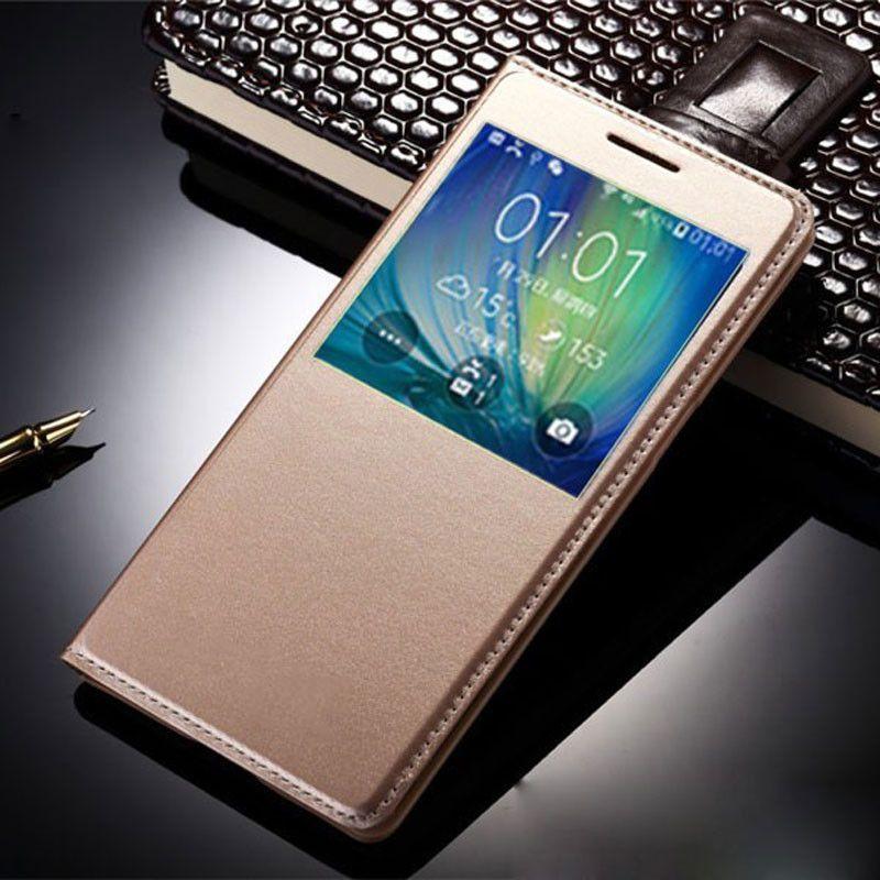 Original Smart View Window Case For Samsung Galaxy S7 edge Case Flip Cover S6 S5 S4 J7 J5 J3 A5 2016 Case Sleep Wake Fundas Para