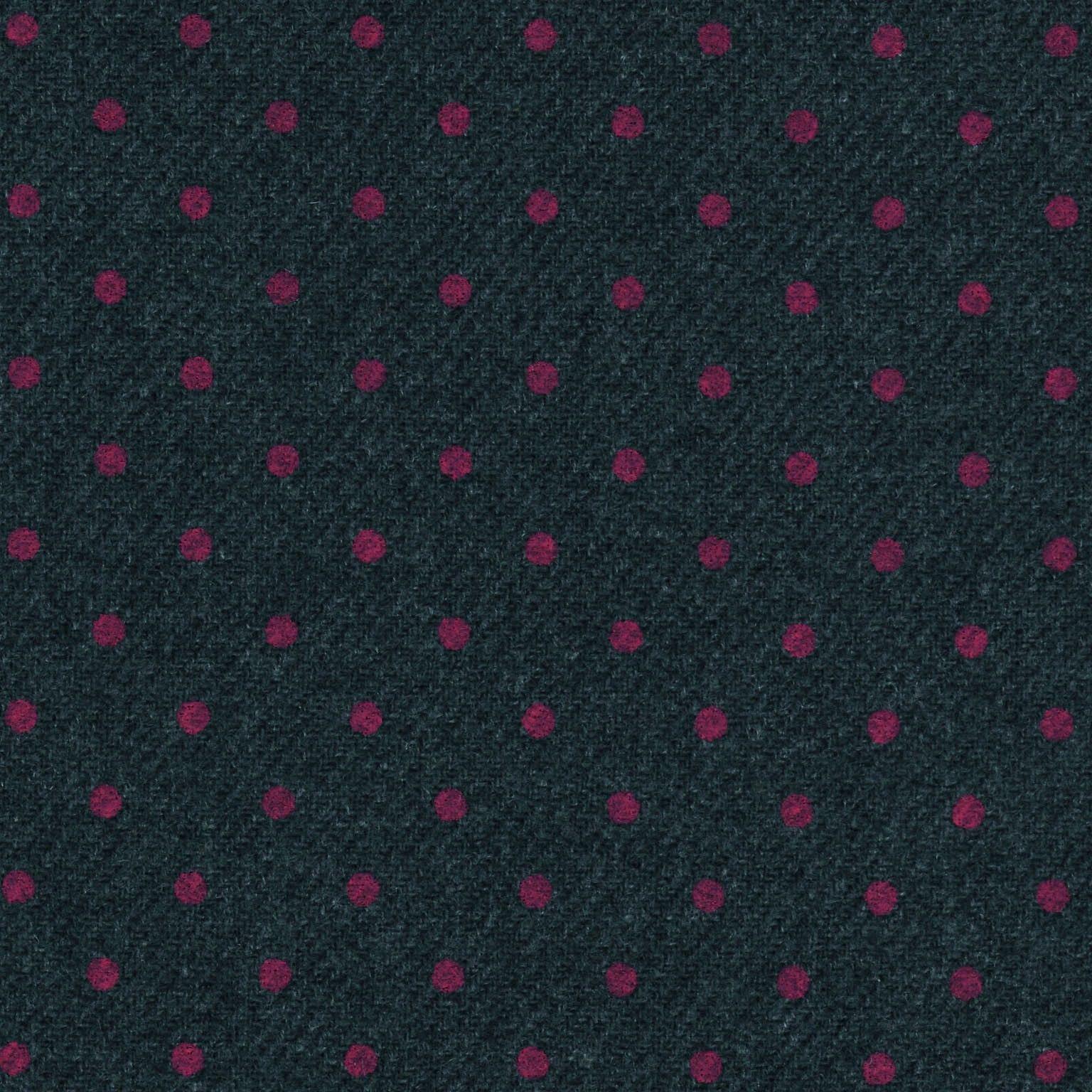 Fabric+lana+grigia+con+pois+fucsia+x+50cm