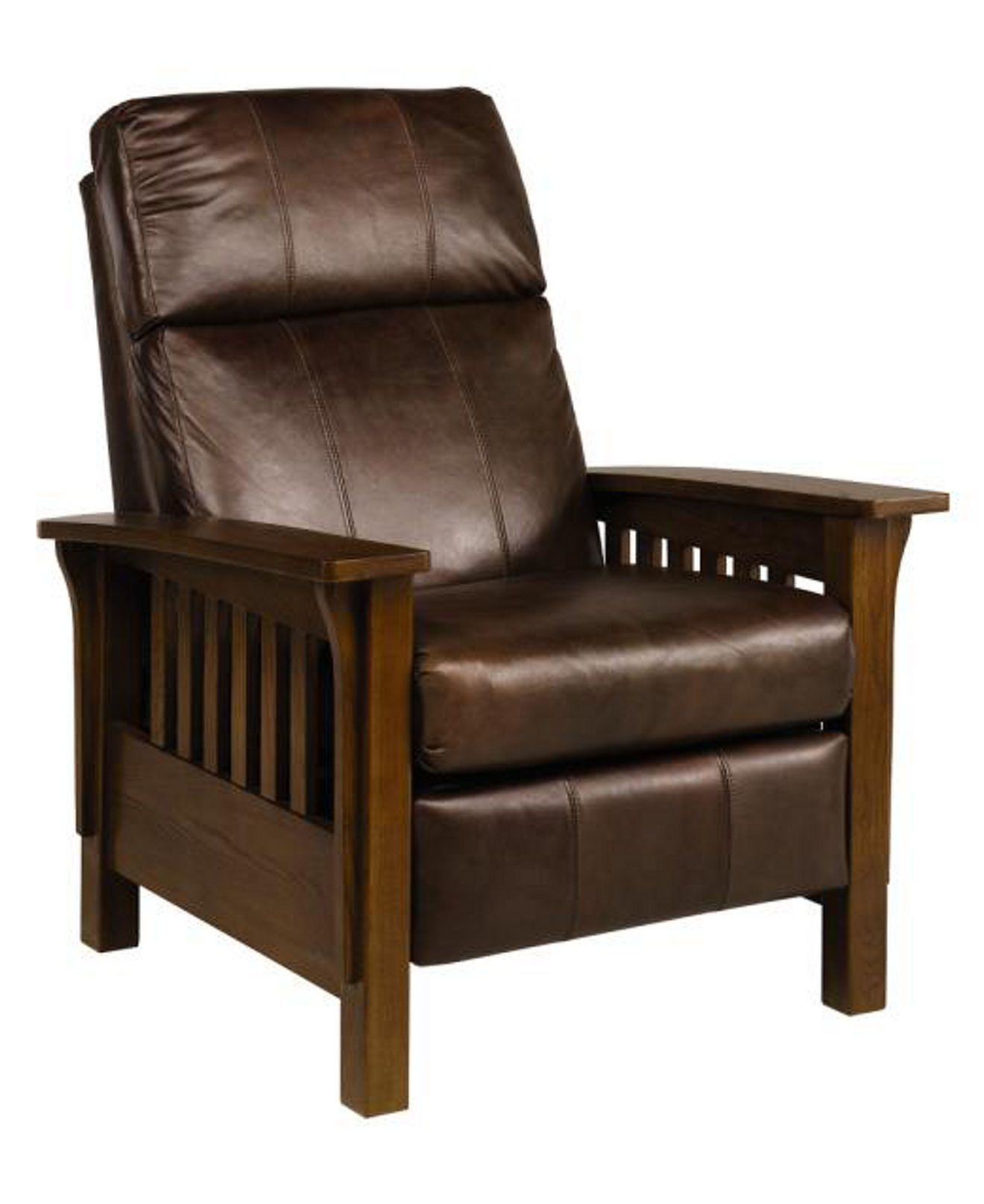 Nicolas Ii Mission Style Leather Recliner Chair