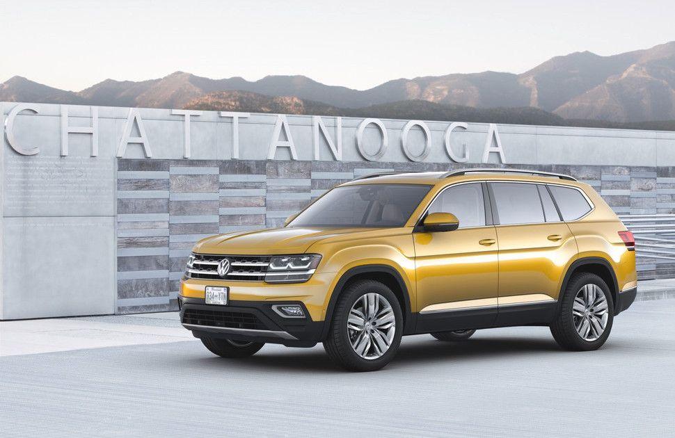 2018 Volkswagen Atlas Revealed The Manual Volkswagen Seven Seater Suv Volkswagen Car