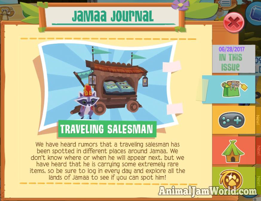 Traveling Salesman Shop in AJPW #PlayWild #Rares #Shop