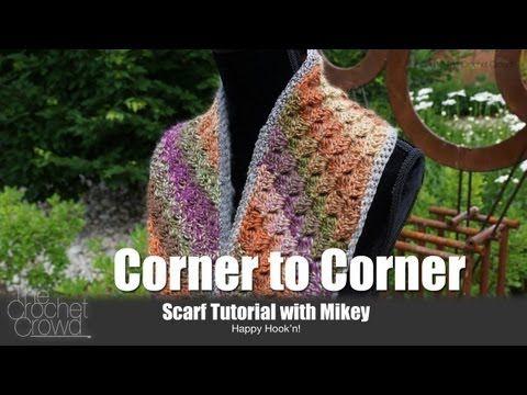 Crochet Corner to Corner Scarf Tutorial - YouTube | DIY
