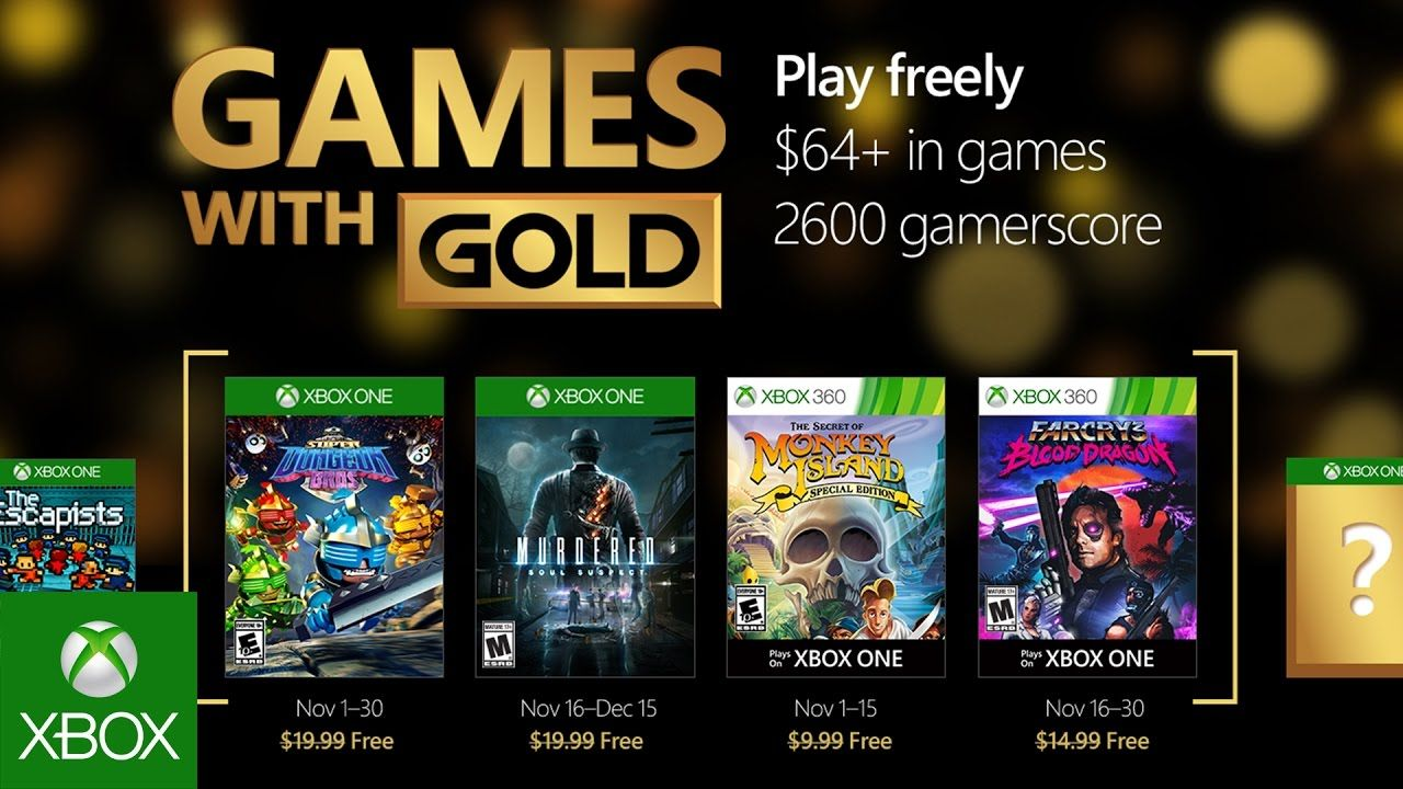 Xbox - November Games with Gold | Places to Visit | Xbox one games