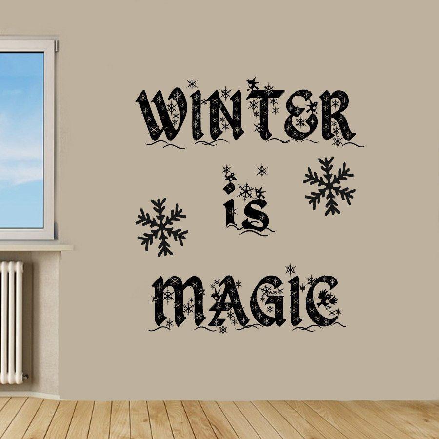 Winter is Magic Sticker Wall Art
