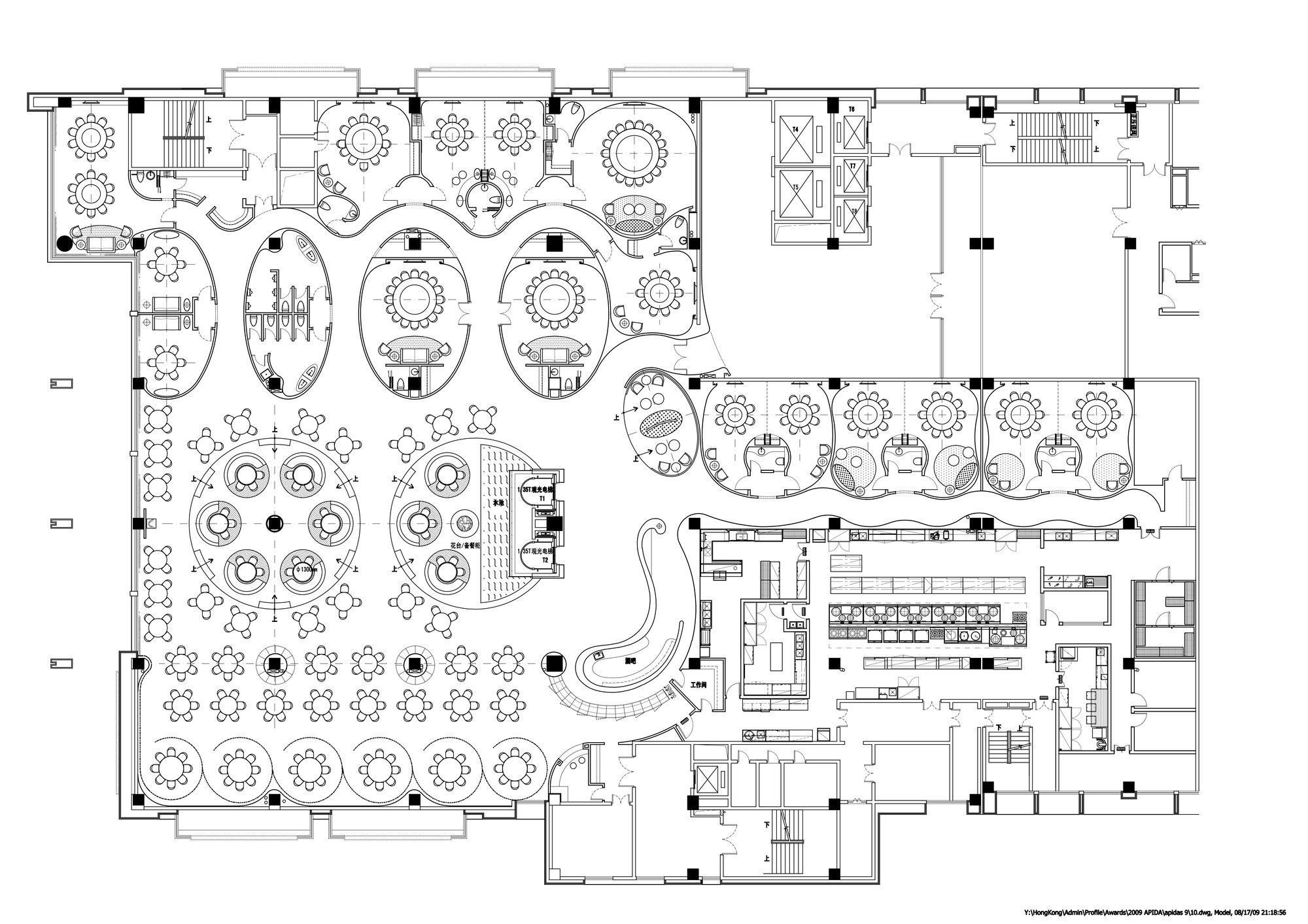 Gallery of jardin de jade restaurant i p a l design for Design your own restaurant floor plan