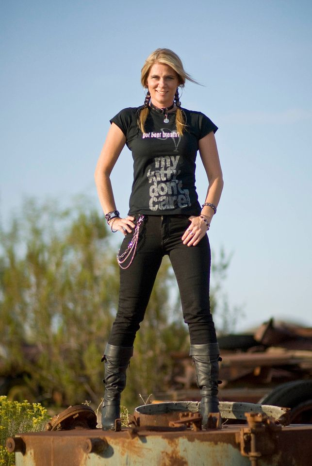 Pretty lady...I know her!!! :)    testing the Pinterest button...    WickedWearsClothing.com