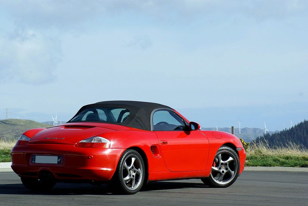 2003 Porsche 986 Boxster S, Guards Red. 3.2L, 6 speed manual.
